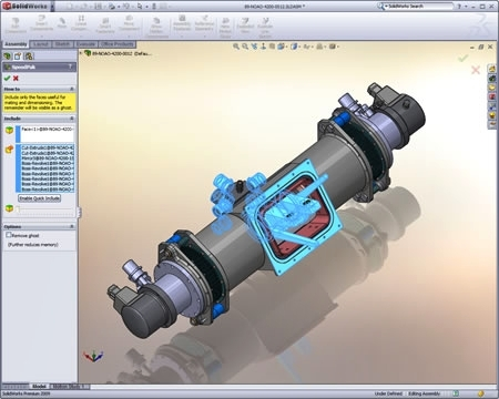 New in SolidWorks 2009, SpeedPak improves performance in large assemblies and drawings
