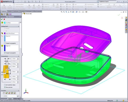 Lips and groove tool for snapping together molded parts